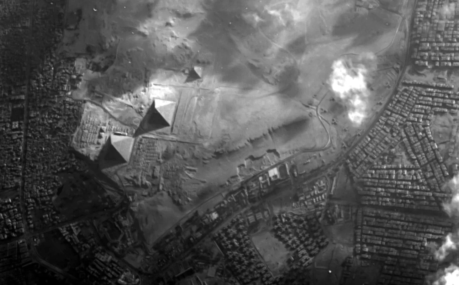 Dear webby humor letter blog how to turn an upside down screen famous giza pyramid complex towers over the western desert in this view from the european space agencys proba 1 minisatellite the largest of the three fandeluxe Choice Image